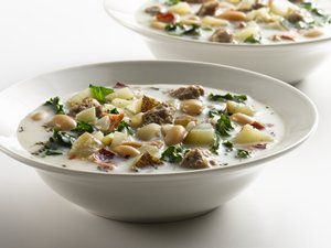 """Healthified"" Italian Sausage Soup"