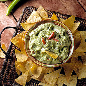 Creamy Avocado Dip with Tortilla Crisps