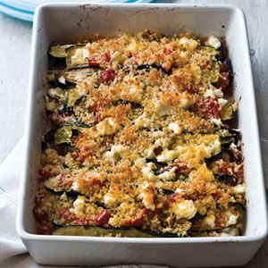 Layered Eggplant, Zucchini, and Tomato Casserole