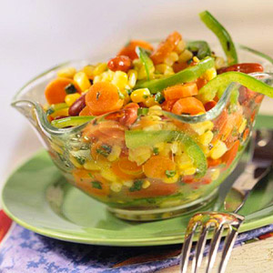 Carrot, Corn, and Bean Salad