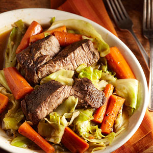 Slow-Cooked Beef and Vegetables for Two