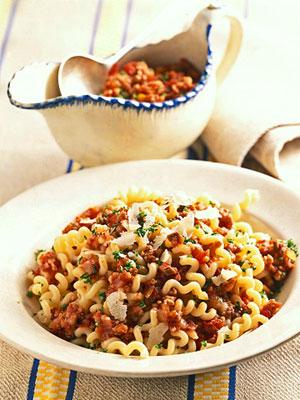 Meat-and-Mushroom Sauce Fusilli