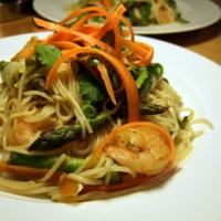 Vietnamese Inspired Noodles With Cilantro And Asaragus