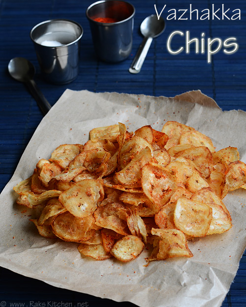 Easy Vazhakkai Chips Recipe - Homemade Plantain Chips Recipe