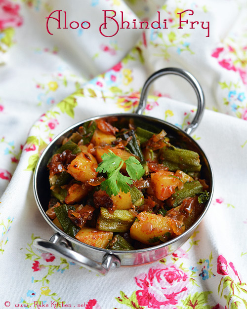 Aloo Bhindi Fry Recipe / Potato Ladies Finger Fry