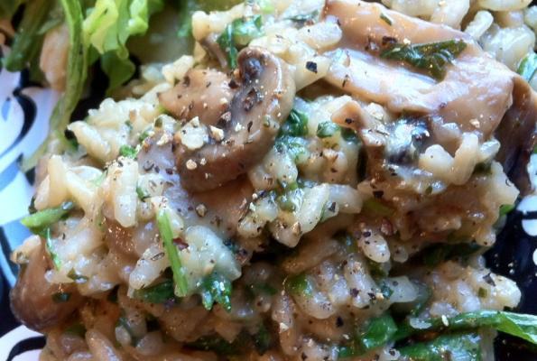 Fresh Herb Mushroom Risotto