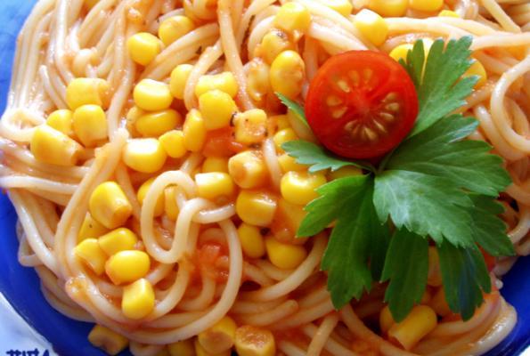 Angel Hair Pasta with Veggie Sauce