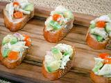 Crab and Avocado Crostini
