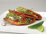Corn Tortilla Tacos with Ground Turkey