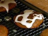 Sweet Potato Pie Cookies with Orange Glaze