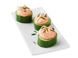 Cucumber Cups With Creamy Salmon Whip