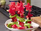 Fruit Skewers with Custard