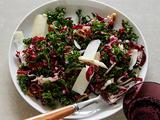 Crunchy Kale Salad with Walnuts and Pecorino