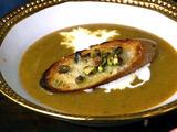 Pistachio Parmesan Crostini
