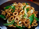 Crispy Squid with Garlic, Chile, and Basil