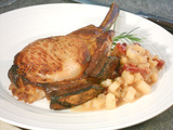 Rack of Pork with Pear Apple Compote