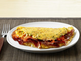 Spanish Omelet with Romesco Sauce