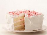 Peppermint Layer Cake with Candy Cane Frosting