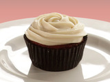 Red Velvet Cupcakes with Almond Cream Cheese Frosting