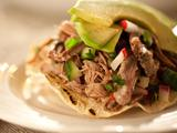 Shredded Beef Tostadas (Salpicon)