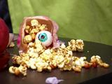 Microwave Caramel and Peanut Popcorn