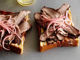 Smoked, Spice Rubbed, Texas-Style Brisket on Texas Toast
