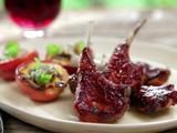 Fire Roasted Baby Lamb Chops with Smoked Paprika-Orange BBQ Sauce
