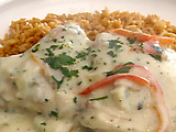 Chicken Fricassee with Tomato Basil Pilaf