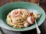 Lemon Pasta with Roasted Shrimp