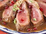 Roasted Lamb with Pomegranate-Tamarind Sauce