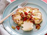 Roasted Cauliflower Steaks with Raisin Relish