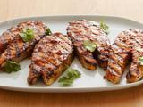Grilled Salmon Steak with Hoisin BBQ Sauce