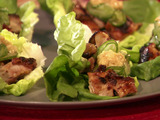 Grilled Chicken Lettuce Wraps with Sesame Miso Sauce