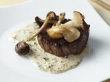 Filet Mignon with Mustard Cream and Wild Mushrooms