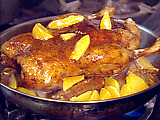 Roasted Duck with Orange Ginger Glaze