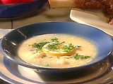 Avgolemeno (Chicken Soup with Egg-Lemon Sauce)