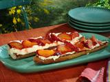 Caramelized Plum-Ricotta-Black Pepper Crostini