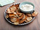 Cracked Pepper Potato Chips with Onion Dip