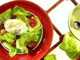 Butter Lettuce with Lardons and Poached Egg