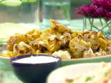 Roasted Smoky Cauliflower with Limey Yogurt