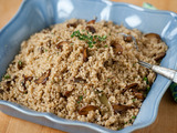 Quinoa Pilaf with Crimini Mushrooms