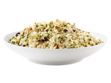 Quinoa With Garlic, Pine Nuts and Raisins