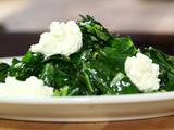 Greens with Spiced Butter and Fresh Ricotta
