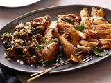 Roast Chicken with Green Herb Stuffing