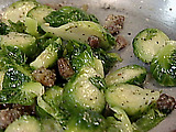 Brussels Sprouts with Garlic and Bacon