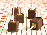 Chocolate Covered Peanut Butter Cheesecake Pops