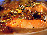 Johnny Garlic's Cedar Plank Salmon