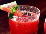 "Watermelon and Mint ""Agua Fresca"" (Fresh Fruit-Blended Water)"