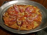 Tomato Onion Flatbread Pizza