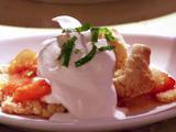 Apricot Nectarine Shortcake with Vanilla Whipped Cream